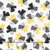 Sunny Days - Butterflies White Yardage