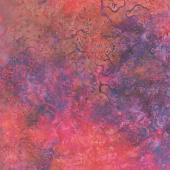 Fiery Sunset Batiks - Coral Purple Red Multi Yardage