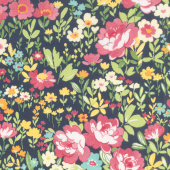 Regent Street Lawns 2018 - English Garden Navy Yardage
