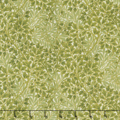 Morris Holiday 1899 - Foliage Linen Pine Metallic Yardage