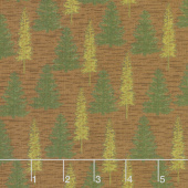 Explore - Woodland Trees Adirondack Reddish Brown Yardage