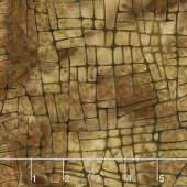 Geared Up Batiks - Mosaic Lines Acorn Yardage