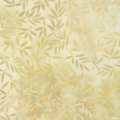 "Wilmington Essentials - Mottled Leaves Cream 108"" Wide Backing"