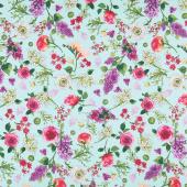 Radiance - Spring Floral Turquoise Yardage