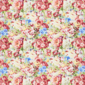 Flower Market - Packed Flowers Multi Yardage