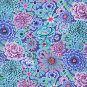 Kaffe Fassett Collective Fall 2018 - Night Enchanted Blue Yardage
