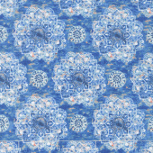 Bohemian Dreams - Mandalas Blue Yardage