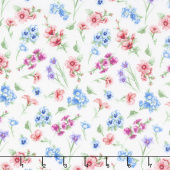 Papillon Parade - Small Floral White Yardage