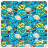 Family Guy - Toys of Destruction Blue Yardage