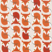 Animals - Geometric Foxes Natural Yardage