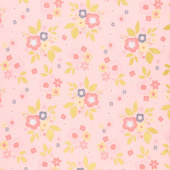 A Little Bit of Sparkle - Main Pink Metallic Yardage