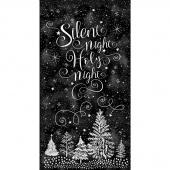 Silent Night - Silent Night Holy Night Black Panel