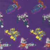 Transformers - In Action in Purple Yardage