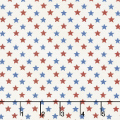 Land That I Love - Stars in a Row Barnwood White Yardage