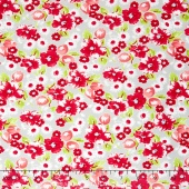 Little Ruby - Little Swoon Grey Yardage