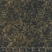 Chocolate and Creams Batiks - Scrolls Bark Yardage