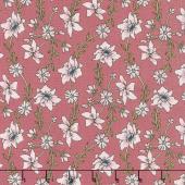 Sweet Stems - Vine Dark Pink Yardage