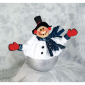 Joyful Snowman Ice Cream Shot® Ornament Kit