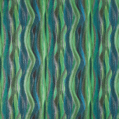 In the Moonlight - Stripes Forest Metallic Yardage