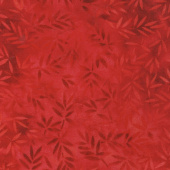 "Wilmington Essentials - Mottled Leaves Red 108"" Wide Backing"