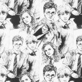 Wizarding World - Harry Potter Line Art Yardage