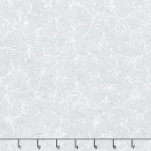 Winter White 3 - Ice Branches Ice Metallic Yardage