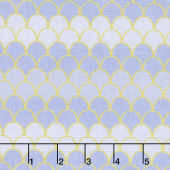Let's Be Mermaids - Mermaid Scallops Periwinkle Sparkle Yardage