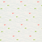 Ready Set Splash - Fish Cream Yardage