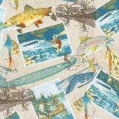 Gone Fishin' - Gone Fishin' Tan Yardage