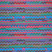 Kaffe Fassett Collective - February 2020 Cool ZigZag Carnival Yardage