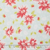 Coney Island - Daisy Blooms Ocean Blue Yardage