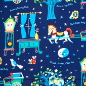 Nursery Rhymes - Nighttime Multi Yardage