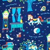 Nursery Rhymes - Nighttime Multi Yardage