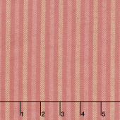 Primo Plaids - Chalk & Timber Ticking Stripe Mauve Yarn Dyed Flannel Yardage