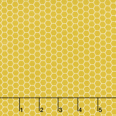 Tea with Bea - Honeycomb Mustard Yardage