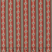 Bristle Creek Farmhouse - Stripe Red Yardage