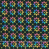 Art Theory - Rainbow Star Night Yardage