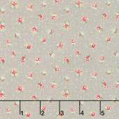 Amberley - Little Rose Polka Dot Pebble Yardage