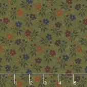 Nature's Glory - Fall Bouquet Green Yardage