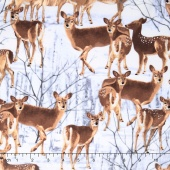 The Great North Wilderness - Whitetail Does Silver Grey Yardage