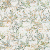 Artisan Batiks - Twilight Snowfall Pine Holiday Moss Metallic Yardage