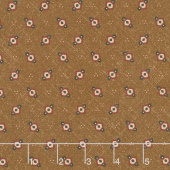 Cheddar & Chocolate - Hexie Diamond Brown Yardage