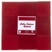 Cotton Supreme Solids Redwork Patty Cake