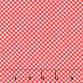 Briarwood - Diagonal Gingham Red White Yardage