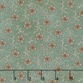 Shadows and Sunshine - Coral Flower Teal Yardage