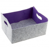 Felt Foldable Storage Bin - Purple