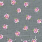 Kaleidoscope - Flowers Charcoal Yardage