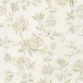 "Regency Ballycastle Chintz 18th Century - Maghera Off White 108"" Wide Backing"