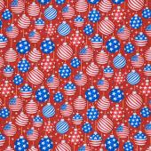 Christmas USA - Ornaments Red Yardage