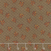 Hickory Road - Leaves Dark Brown Yardage